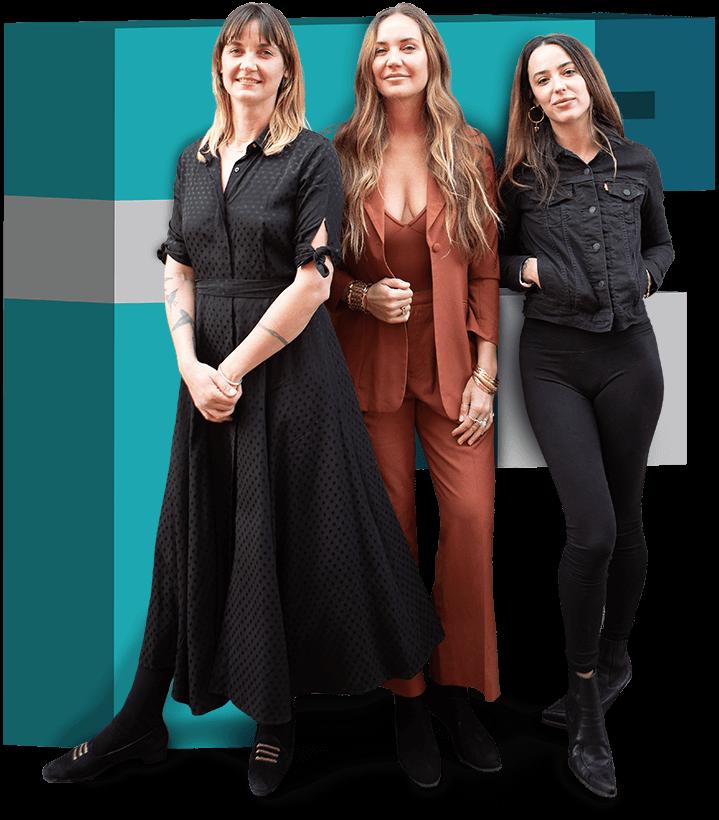 Alexis Soler, Angela Laino, and Jessie Laino of Flamingo Club